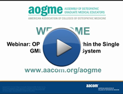 OPP Integration within the Single GME Accreditation System