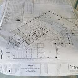 Blueprint of AACOM's Bethesda office