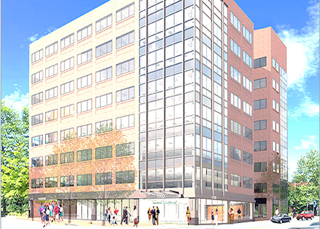 Artist's rendering of the office building.  AACOM's offices will be on the second floor.