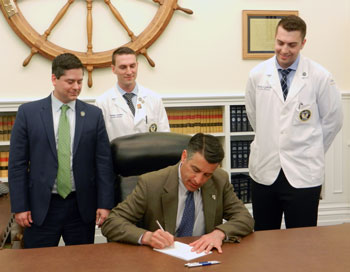 Nevada Governor Sandoval signs a new law on DUI testing for marijuana testing.
