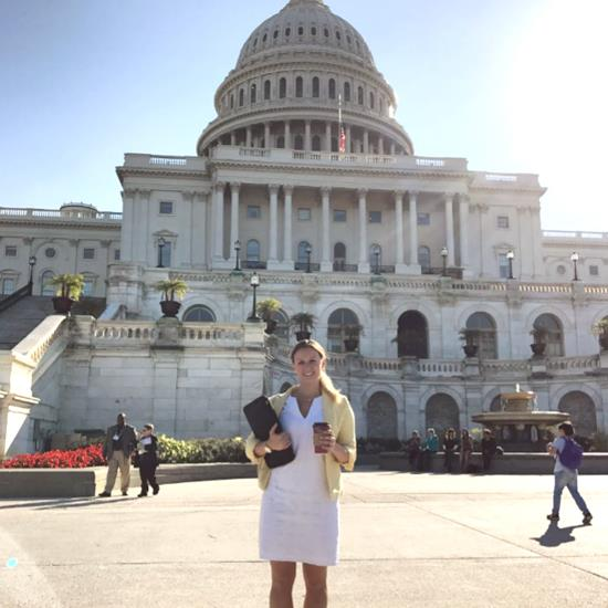 Katie Kaeppler in front of the U.S. Capitol