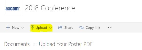 How to upload a poster PDF file