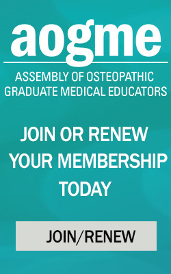 Mobile Banner for AOGME membership renewal