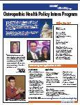 Osteopathic Health Policy Intern flyer