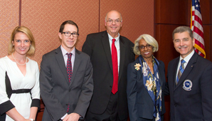 From left: Charlene MacDonald; Dr. Keith Egan; Dr. Stephen C. Shannon; Dr. Barbara Ross-Lee; and Dr. Robert S. Juhasz.