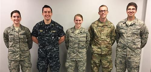 LECOM medical students in the military