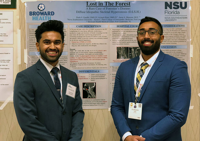 NSUKPCOM students in front of joint poster project