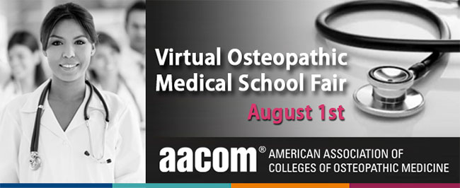 Virtual osteopathic medical school fair banner