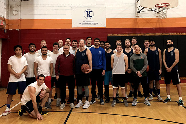 Medical student basketball team