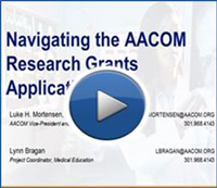Navigating the AACOM Research Grants Application