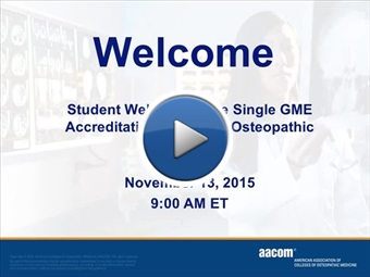 Nov 2015 Single GME webinar