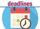 Deadlines calendar and stopwatch