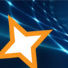 SLDP gold star on blue background